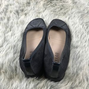 Anyi Lu Shoes - Anyi Lu Shimmer Black Wedges Shoes Silver Leather